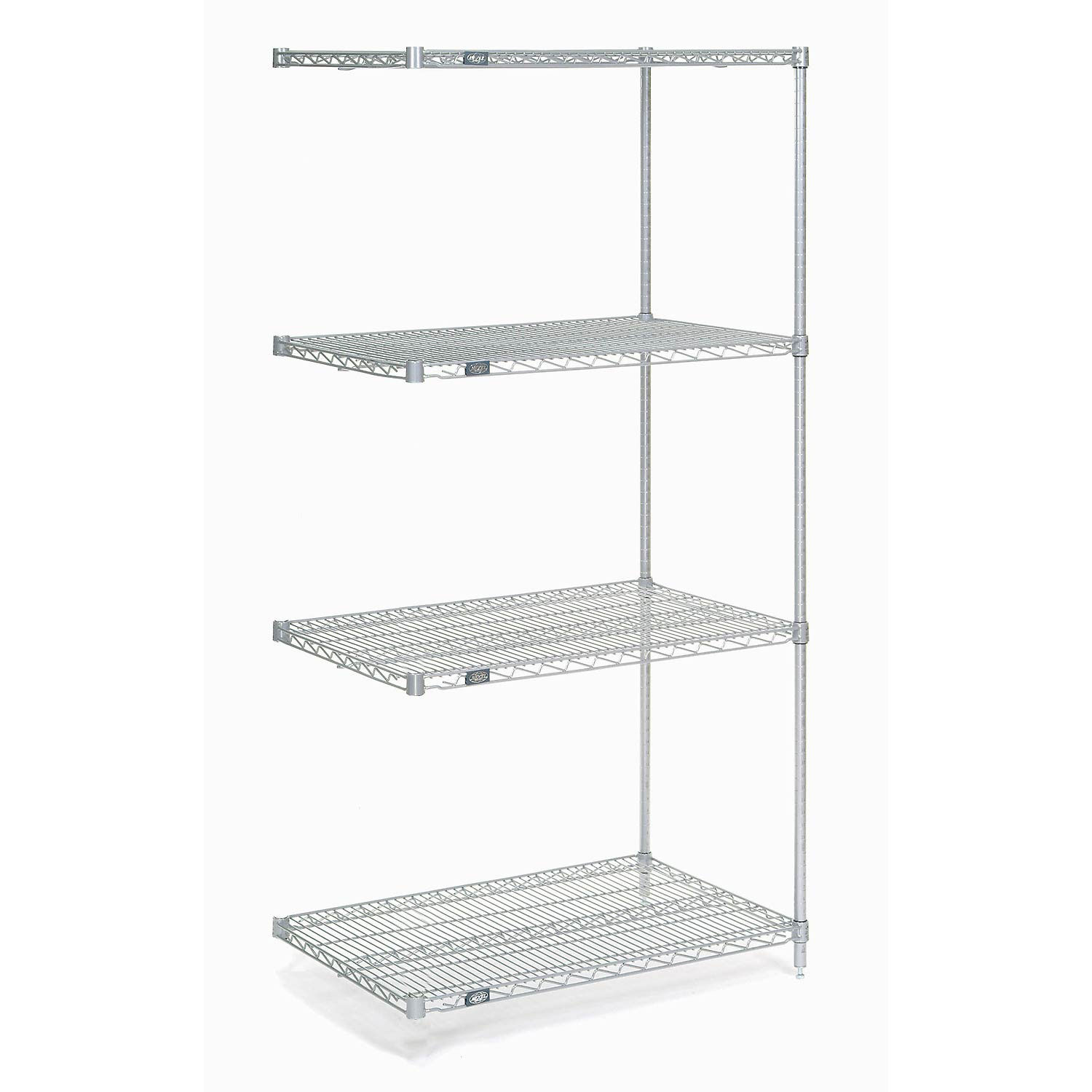 Details About Nexel Wire Shelving Add On Poly Z Brite 42 W X 21 D X 54 H