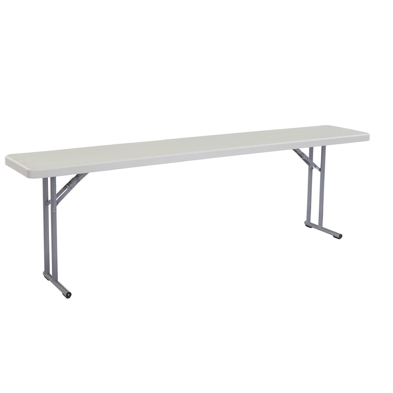 "NATIONAL PUBLIC SEATING Folding Seminar Table - 18x96"", Lot"