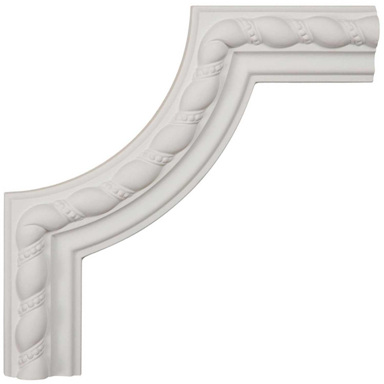 Ekena Millwork PML06X06BU-CASE-8 6 inch W x 6 inch H x 5//8 inch P Bulwark Rope Panel Moulding Corner , 8-Pack