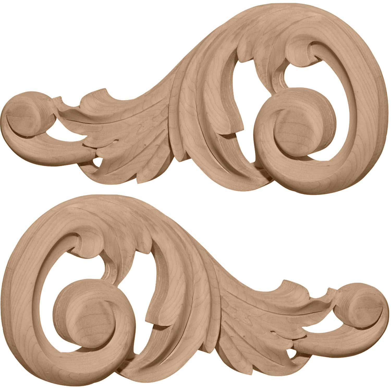 Ekena ONL09X04X01SWAL Medium Swaying Scrolls 9-1 8 W x 4-1 8 H x 3 4 D, Lot of 1