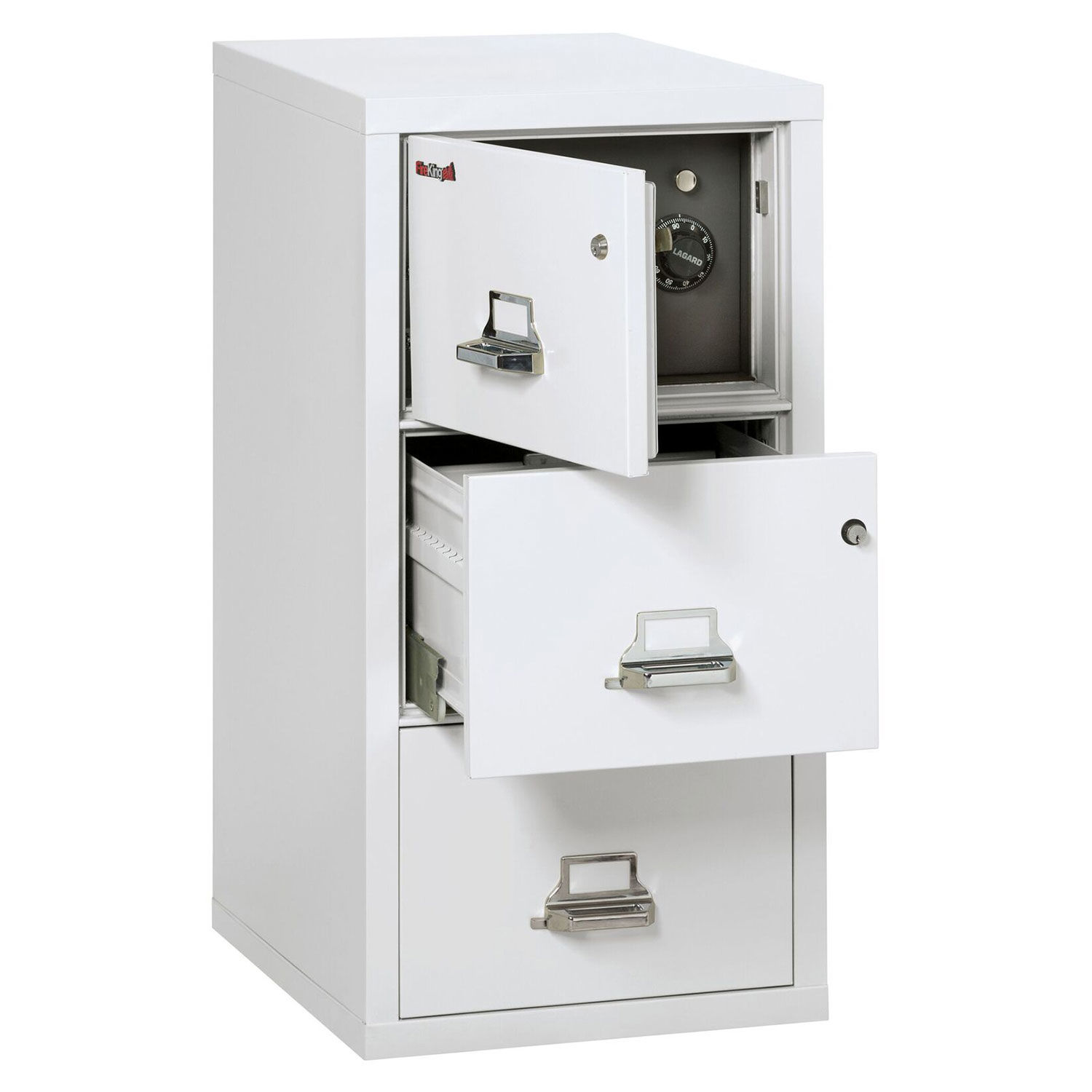 Details About Fireking Fireproof 3 Drawer Vertical Safe In File Legal White