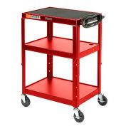 Steel Audio Visual & Instrument Cart Red