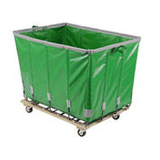 DANDUX Vinyl Basket Bulk Truck, 12 Bushel, Green