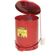 Justrite Oily Waste Can, 14 Gallon, Red
