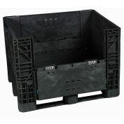 Monoflo BC3230-34 Plastic Folding Bulk Shipping Container, 32x30x34, 1800 lb. Capacity