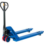 Low Profile Narrow Fork Pallet Jack Truck, 4500 Lb. Capacity, 21 x 48