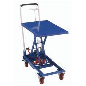 Mobile Scissor Lift Table with Folding Handle, 27 x 17 Platform, 330 Lb. Capacity