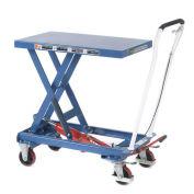 Mobile Scissor Lift Table, 39 x 20 Platform, 1100 Lb. Capacity, Single Scissor