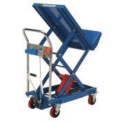 Mobile Lift & Tilt Scissor Lift Table 400 Lb. Capacity - 29 x 19 Platform