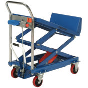 Mobile Lift & Tilt Scissor Lift Table, 36 x 24 Platform, 600 Lb. Capacity