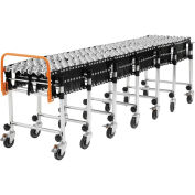 "6'2"" to 24'8"" Portable Flexible & Expandable Conveyor - Steel Skate Wheels - 175 Lbs. Per Foot"