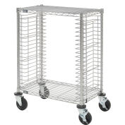 "Side Load Wire Tray Cart with 19 Tray Capacity, 30""L x 18""W x 40""H"