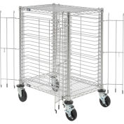 """Nexel End Load Wire Tray Cart with 19 Tray Capacity, 30""""L x 21""""W x 40""""H"""