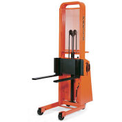 "PRESTO Battery-Powered Stackers - 1000-Lb. Capacity - 5-1/4–52"" Lift Height"
