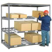 "3 Level Carton Flow Shelving, Single Depth, 96W"" x 36""D x 84""H"