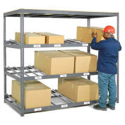 "3 Level Carton Flow Shelving, Single Depth, 96""W x 48""D x 84""H"