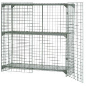 Wire Mesh Security Cage - Ventilated Locker -  72 x 36 x 60