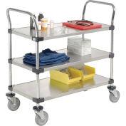 Nexel Stainless Steel Utility Cart, 3 Shelves, 36x24x38
