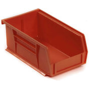 "AkroBin® Plastic Stacking Bin, 4-1/8""W x 7-3/8""D x 3""H, Red - Pkg Qty 24"