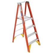 """6' Fiberglass Platform Step Ladder, 300 lb. Cap, 96"""" Overall"""