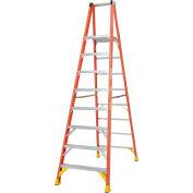 Werner P6208 8' Fiberglass Platform Step Ladder 300 lb. Cap