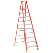 Werner P6210 10' Fiberglass Platform Step Ladder 300 lb. Cap