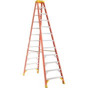 Werner 12' Dual Access Fiberglass Step Ladder 300 lb. Cap