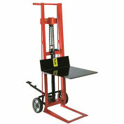 "WESCO Platform-Lift Hand Truck - Hydraulic Peda-Lift - 8"" Mold-On Rubber Wheels - 22x22"" Platform"