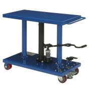 Foot Control Work Positioning Post Lift Table, 1000 Lb. Cap