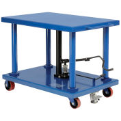 "Work Positioning Post Lift Table Foot Control, 48""x32"" Platform, 6000 Lb. Capacity"