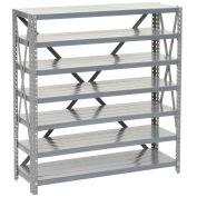 Open Steel Shelving 7 Shelves No Bin - 36x12x39