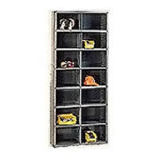 14 Compartment Steel Storage Bin Cabinet with Plastic Dividers, 36x12x85
