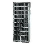 36 Compartment Steel Storage Bin Cabinet with Plastic Dividers, 36x12x85