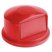 Dome Lid For 32 Gallon Round Trash Container, Red