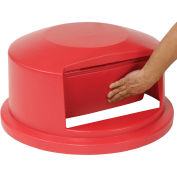Rubbermaid Dome Lid For 44 Gallon Round Trash Container, Red