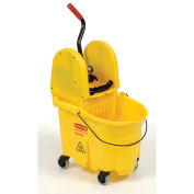 Rubbermaid WaveBrake Mop Bucket & Wringer Combo w/Down Press, 35 Qt