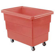 DANDUX Red Plastic Box Truck, 8 Bushel Heavy Duty
