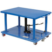 "Work Positioning Post Lift Table Foot Control, 48""x32"" Platform, 2000 Lb. Capacity"