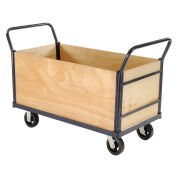 Euro Style Truck - 4 Wood Sides & Deck, 48 x 24, 2000 Lb. Capacity
