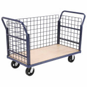 Euro Style Truck - 3 Wire Sides & Wood Deck, 48 x 24, 2000 Lb. Capacity