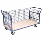 Euro Style Truck - 3 Wire Sides & Wood Deck, 60 x 30, 2000 Lb. Capacity