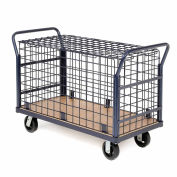Euro Style Wire Security Deck Truck, 48 x 24, 2000 Lb. Capacity