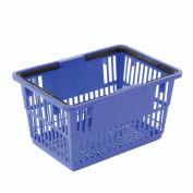 "Good L Corp. ® Plastic Shopping Basket with Plastic Handle, Standard, Blue, 17""L X 12""W X 9""H - Pkg Qty 12"