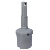 Gray Outdoor Ashtray, 5 Gallon