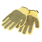 Medium Weight Double-Sided PVC Dots Kevlar® Gloves, Mens' Size, 1 Pair