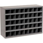 "DURHAM All-Welded Steel Bin Shelving - 33-3/4x12x24"" - (40) 4x11-7/8x4-1/2"" Bins"