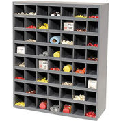 Storage Parts Bin Cabinet with Open Front - 56 Compartments