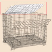 Lid ONLY - 40 X 48 Folding Wire Container Accessory Lid-Hinged