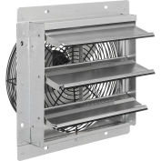 "12""W Exhaust Ventilation Fan With Shutter, Single Speed"