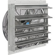 "18""W Exhaust Ventilation Fan With Shutter, Single Speed"